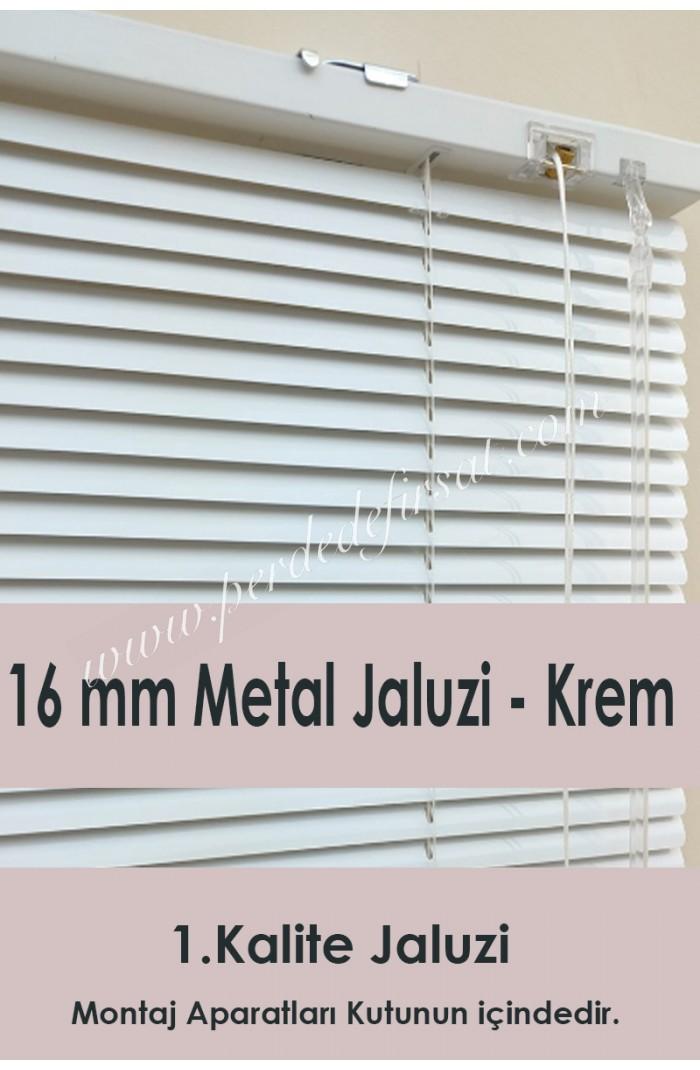 16mm Krem Metal Jaluzi